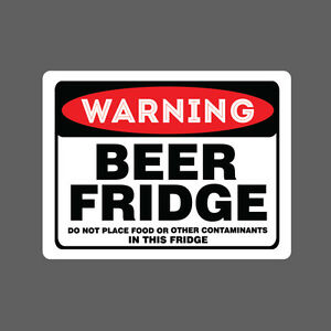 Beer fridge sticker vinyl decal car funny no food drink - Stickers protection cuisine ...