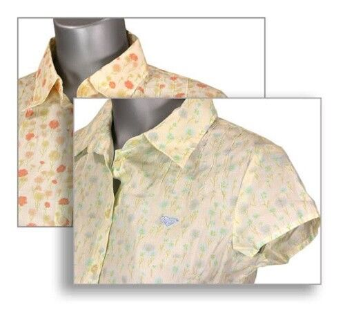 ROXY QUIKSILVER LADIES GIRLS PRETTY SUMMER COTTON BLOUSE SHIRT S/S 2 COLOURS