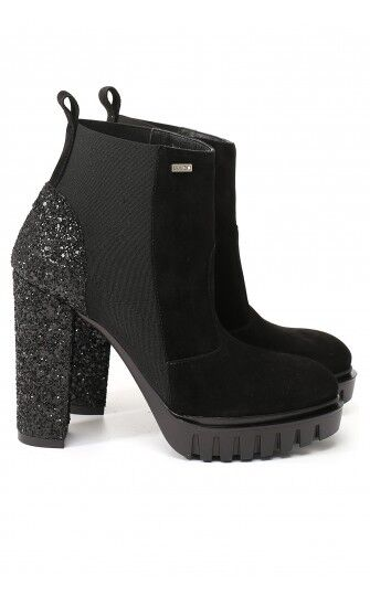 LIU JO - ANKLE BOOT BLACK GLITTER S66085P0256 only number 40 -50% DISCOUNT