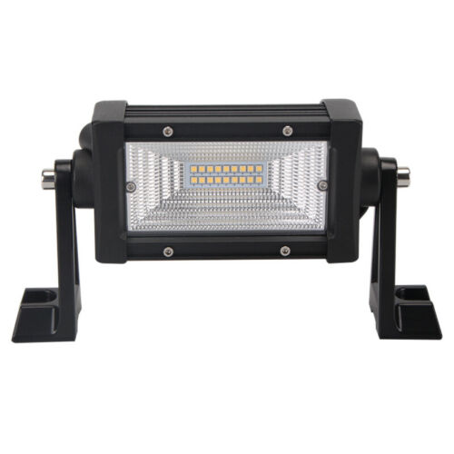 2X 6inch 54W LED Work Light Bar Flood Driving Lamp 7D Lens Off road Forklift SUV