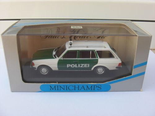 Mercedes e - klasse kombi der polizei w123 minichamps 430032291 mib 1 43 560sel meg selten