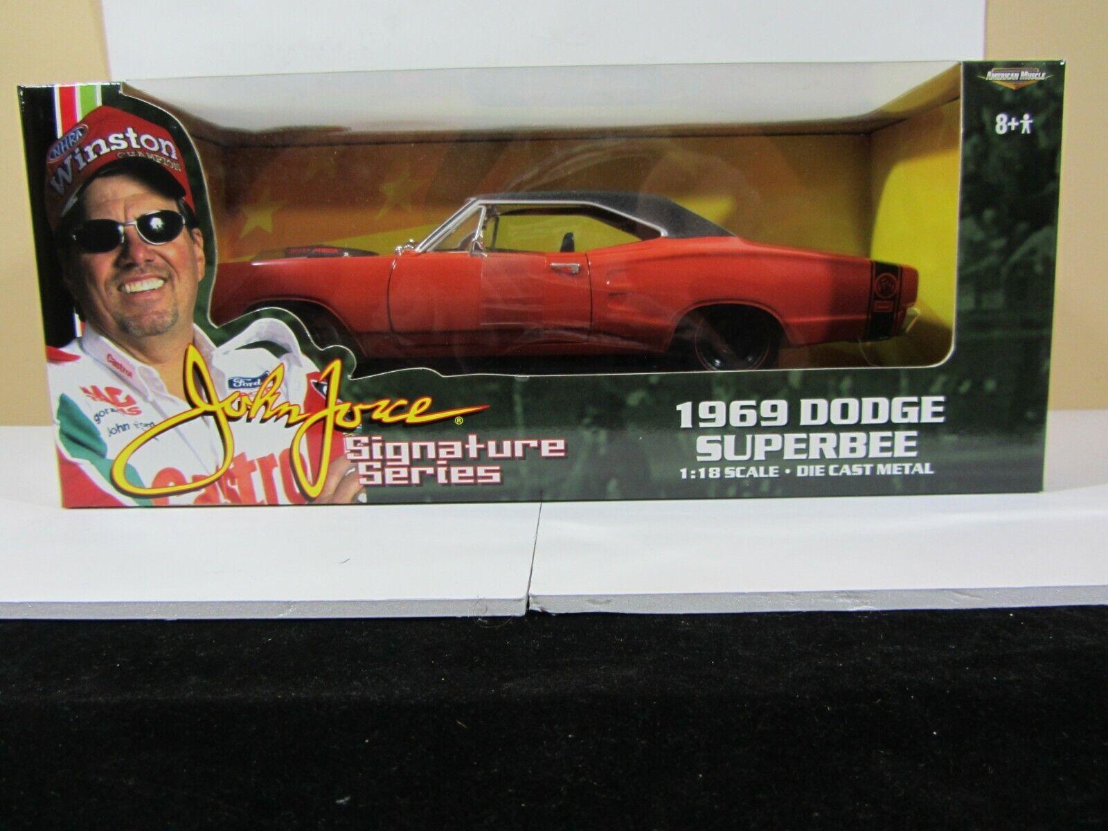 American Muscle John Force Series, 1969 Dodge súperbee 1 18 (G519) 32843