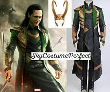 FREE WORLD WIDE SHIP Thor Marvel MOVIE Loki Set Helmet Costume Cosplay