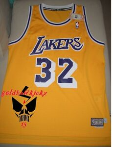 the best attitude 362e5 5a975 Details about adidas magic johnson lakers HARDWOOD CLASSICS HWC soul  SWINGMAN JERSEY
