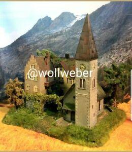 Diorama-H0-Kloster-St-Marienthal-mit-Patinierung-Modellbau-aus-Potsdam