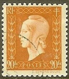 """FRANCE TIMBRE STAMP N° 700 """" MARIANNE DULAC 20F """" OBLITERE TB"""