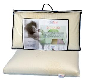 Pillove Cuscini.Guanciale Cuscino Eco Latex In Lattice Anallergico Sfoderabile