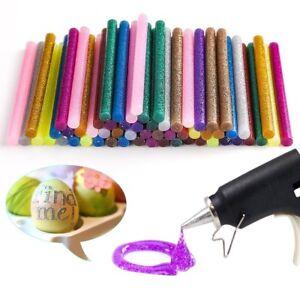 Image Is Loading 60pcs 12 Color Hot Glue Gun Sticks Powder