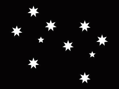 2 x Southern Cross Stars Aussie Decal Sticker Sign Car Boat Caravan Bike 7cm