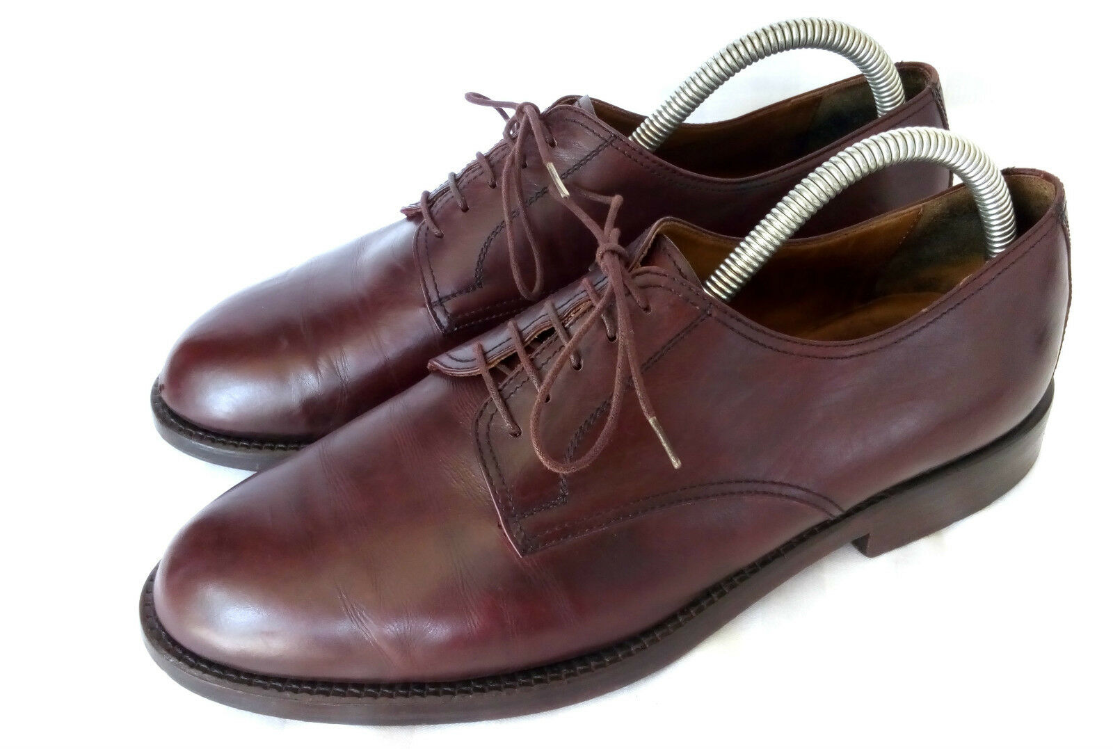 Ralph Harrison Plain Derby Business Herrenschuhe Burgundy Oxblood Leder Gr. 43,5    | Primäre Qualität