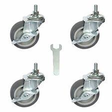 Swivel Stem Caster Wheels 3 Inch Rubber Heavy Duty 12 13 X 1 Set Of 4