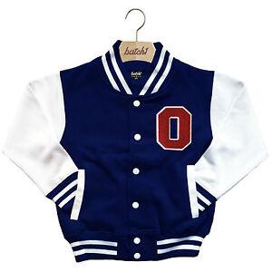 big sale 174ce afe84 Dettagli su Bambini Baseball College Giacca Personalizzato con Originale  USA Lettere O