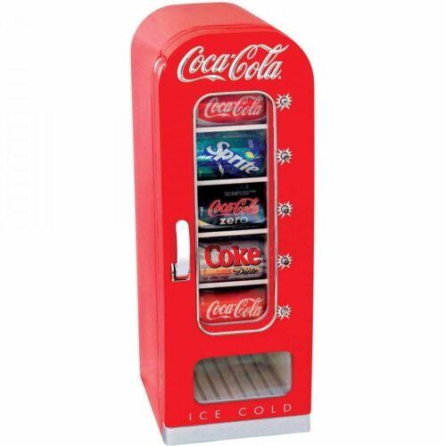 Coca Cola Refrigerator Mini 10-Can Retro Kitchen Vending Fridge New Best Gift
