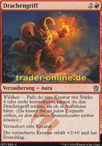 Khans of Tarkir Magic Dragon Grip 2x Drachengriff