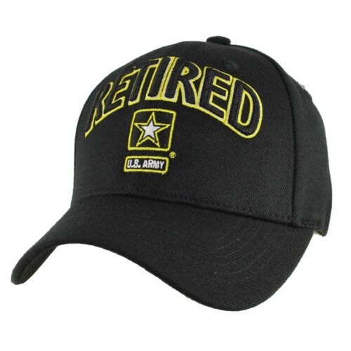 Army with Army Star Baseball Cap Hat Officially Licensed US ARMY RETIRED U.S