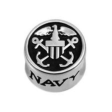 US Navy Logo 925 Sterling Silver Bead fits European Modular Charm Bracelets