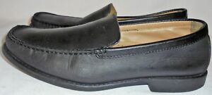 GIORGIO-BRUTINI-MEN-039-S-BLACK-SOFT-LEATHER-LOAFER-SIZE-11-M