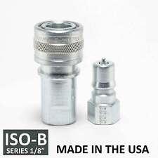 1 Set 18 Iso B Hydraulic Hose Quick Disconnect Couplers Plug Iso 7241 1 B