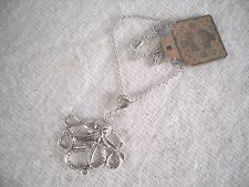 """SILVER SERPENT PENDENT ON A 24"""" CHAIN NECKLACE,HAND MADE,BRAND NEW WITH TAGS."""