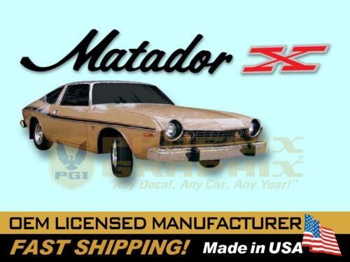 1974 AMC American Motors Matador X Decals /& Stripes Kit