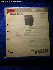 Sony Service Manual WM F2061 Cassette Player (#3994)