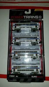 POWER TRAINS EURO BULLET Series 1 Jakks Pacific 4 TRAIN CARS