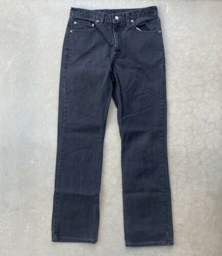 Vintage Levis 517 34x34  made in USA Black Relaxe… - image 1