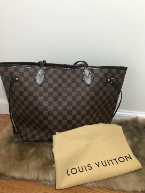 ❤ Louis Vuitton ❤Neverfull MM❤ Damier Ebene LV Tote 100% Auth NFMM & Dust Bag