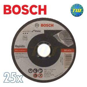 Grosses Soldes 25x Bosch Standard Inox 1mm X 115mm En Acier Inoxydable Métal Mince Coupe Coupe Disque-afficher Le Titre D'origine