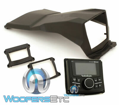UTV Stereo Lower Dash Mount Kit For Rockford PMX Radios Fits Can-Am Maverick X3