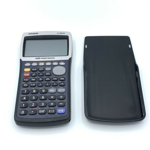 Casio FX-9860G USB Power Graphic Calculator with Cover - Tested / Working EUC