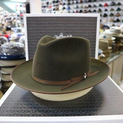 e0d9275e STETSON STRATOLINER SPECIAL EDITION SAGE FUR FELT C-CROWN DRESS HAT | eBay