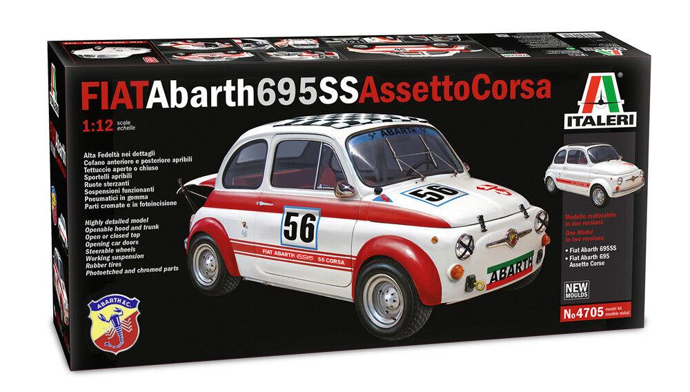 esclusivo ITALERI FIAT 500 ABARTH ABARTH ABARTH ASSETTO CORSA SCALA 1 12 COD. 4705 NUOVO  all'ingrosso a buon mercato