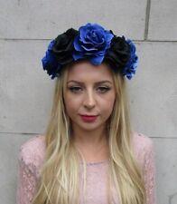 Large Black Grey Rose Flower Headband Sugar Skull Day of the Dead Crown Big 6311
