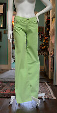 VERSACE JEANS COUTURE!! LIME GREEN PIQUE COTTON BOYFRIEND STYLE JEANS! NEW! 6/8!