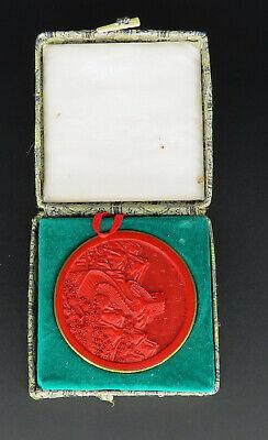 Antike Medaille Chinesische Mauer In Box Erfrischung