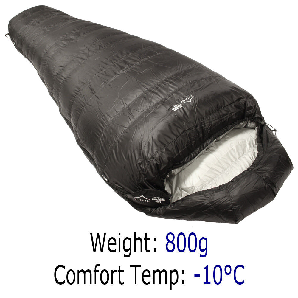 Criterion Quantum 450 Ultralight Down Sleeping Bag   Camping   Bivi   Racing