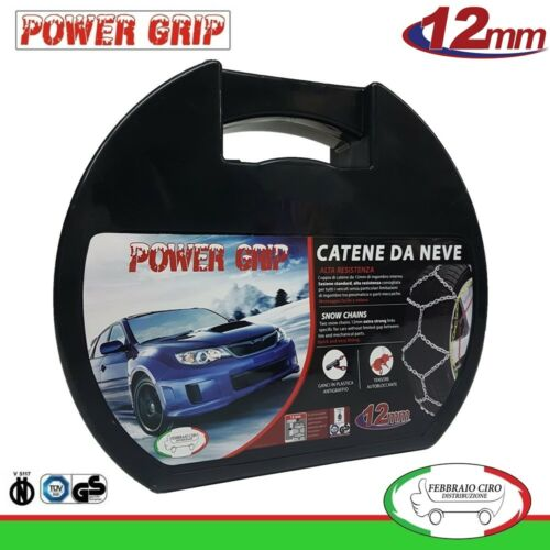 Catene da Neve Power Grip 12mm Gr 140 gomme 225//55r18 Mitsubish New Outlander