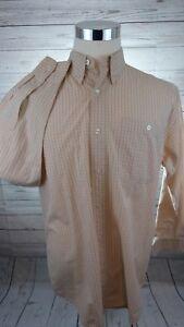 Orvis-Long-Sleeve-Beige-Check-Men-039-s-Shirt-Size-Medium