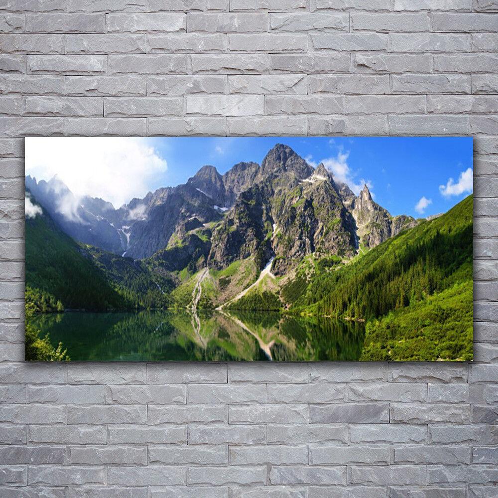 Acrylglasbilder Wandbilder Druck 120x60 Gebirge See Natur