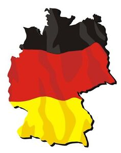 Autoaufkleber Karte Deutschland Sticker Fahne Germany Flagge