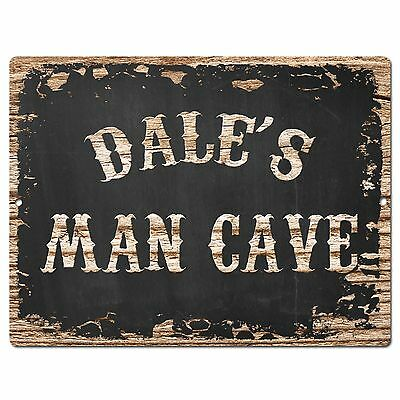 SLND1187 DENTON MAN CAVE Street Rustic Chic Sign Home man cave Decor Gift