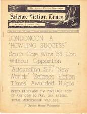 SCIENCE FICTION TIMES #279 - 1957 - 15th World Science Fiction convention report