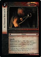 LoTR TCG FoTR Fellowship Of The Ring All Thought Bent On It FOIL 1U239