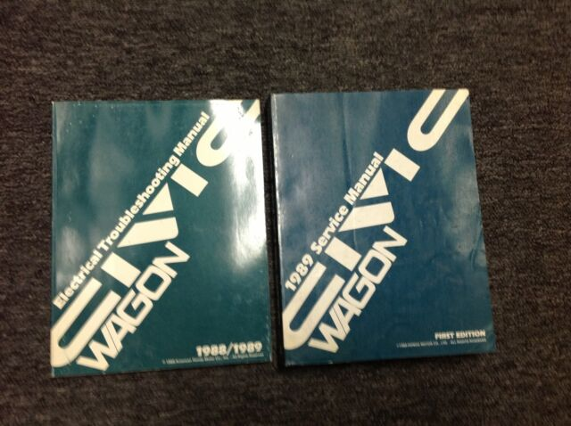 1989 Honda Civic Wagon Service Shop Repair Workshop Manual