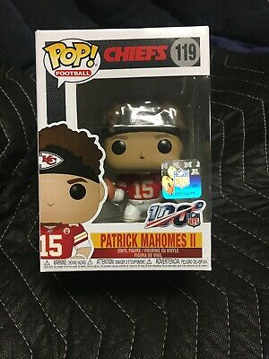 Pop Sports NFL Patrick Mahomes II Kansas City Chiefs Pop Vinyl Figure Bundled with Pop Shield Protector