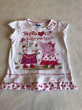 Abiti per ragazza 2-3 ANNI-Carino PEPPA PIG T-shirt girocollo