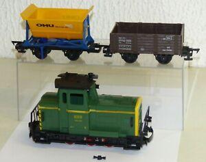 3x-Faller-E-Train-Diesellok-260-030-OHU-Kipplore-Hochbordwagen-46102-Spur-0