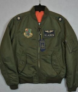 588de029bfc Polo Ralph Lauren MA-1 Military Army US Air Force Flight Bomber ...