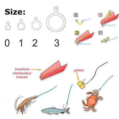 STONFO Bait Elastic Rings, Pellets Boilie Shrimp Carp Coarse Fish 0-1-2-3 sizes